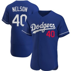 Jimmy Nelson Los Angeles Dodgers Men's Authentic Alternate Jersey - Royal