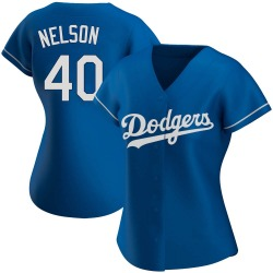 Jimmy Nelson Los Angeles Dodgers Women's Authentic Alternate Jersey - Royal