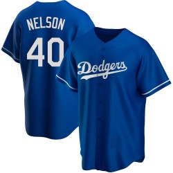 Jimmy Nelson Los Angeles Dodgers Youth Replica Alternate Jersey - Royal