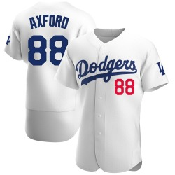 John Axford Los Angeles Dodgers Men's Authentic Home Official Jersey - White