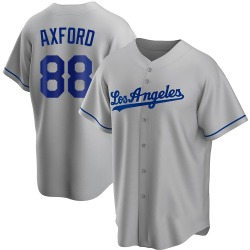 John Axford Los Angeles Dodgers Youth Replica Road Jersey - Gray