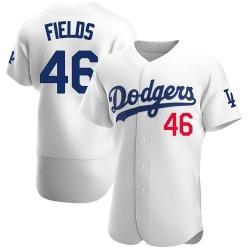 Josh Fields Los Angeles Dodgers Men's Authentic Home Official Jersey - White