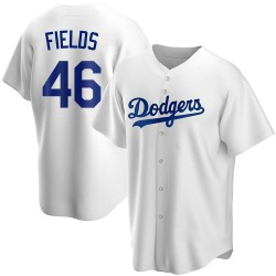 Josh Fields Los Angeles Dodgers Men's Replica Home Jersey - White