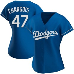 JT Chargois Los Angeles Dodgers Women's Authentic Alternate Jersey - Royal