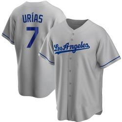 Julio Urias Los Angeles Dodgers Men's Replica Road Jersey - Gray