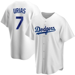 Julio Urias Los Angeles Dodgers Youth Replica Home Jersey - White