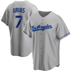 Julio Urias Los Angeles Dodgers Youth Replica Road Jersey - Gray