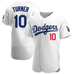 Justin Turner Los Angeles Dodgers Men's Authentic Home Official Jersey - White