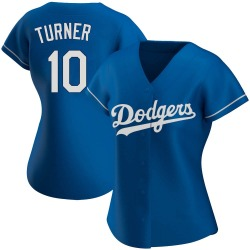 Justin Turner Los Angeles Dodgers Women's Authentic Alternate Jersey - Royal