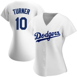 Justin Turner Los Angeles Dodgers Women's Authentic Home Jersey - White