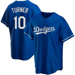 Justin Turner Los Angeles Dodgers Youth Replica Alternate Jersey - Royal