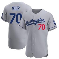 Keibert Ruiz Los Angeles Dodgers Men's Authentic Away Official Jersey - Gray