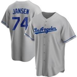Kenley Jansen Los Angeles Dodgers Men's Replica Road Jersey - Gray