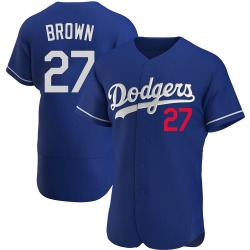 Kevin Brown Los Angeles Dodgers Men's Authentic Royal Alternate Jersey - Brown