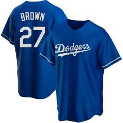 Kevin Brown Los Angeles Dodgers Men's Replica Royal Alternate Jersey - Brown
