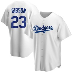 Kirk Gibson Los Angeles Dodgers Men's Replica Home Jersey - White