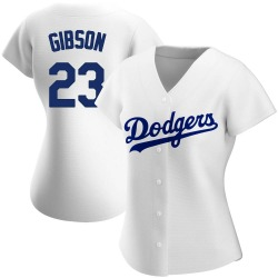 Kirk Gibson Los Angeles Dodgers Women's Authentic Home Jersey - White