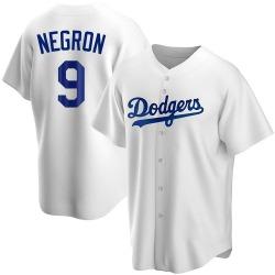 Kristopher Negron Los Angeles Dodgers Men's Replica Home Jersey - White