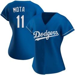 Manny Mota Los Angeles Dodgers Women's Replica Alternate Jersey - Royal