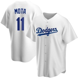 Manny Mota Los Angeles Dodgers Youth Replica Home Jersey - White
