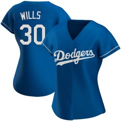 Maury Wills Los Angeles Dodgers Women's Authentic Alternate Jersey - Royal