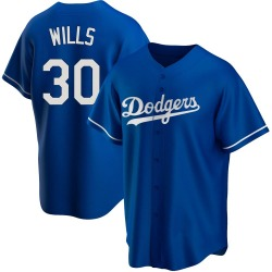 Maury Wills Los Angeles Dodgers Youth Replica Alternate Jersey - Royal