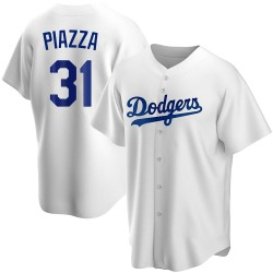 Mike Piazza Los Angeles Dodgers Men's Replica Home Jersey - White