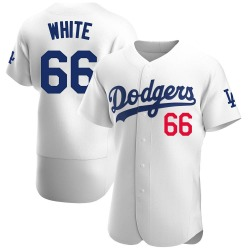 Mitchell White Los Angeles Dodgers Men's Authentic Home Official Jersey - White