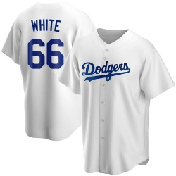 Mitchell White Los Angeles Dodgers Youth Replica Home Jersey - White