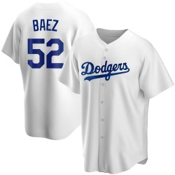 Pedro Baez Los Angeles Dodgers Youth Replica Home Jersey - White