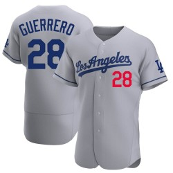 Pedro Guerrero Los Angeles Dodgers Men's Authentic Away Official Jersey - Gray
