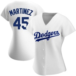 Pedro Martinez Los Angeles Dodgers Women's Authentic Home Jersey - White