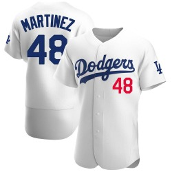 Ramon Martinez Los Angeles Dodgers Men's Authentic Home Official Jersey - White