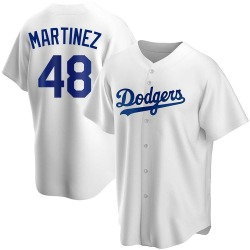 Ramon Martinez Los Angeles Dodgers Youth Replica Home Jersey - White