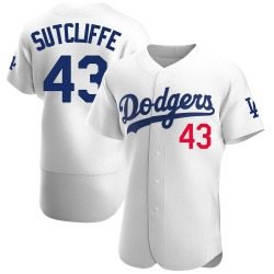Rick Sutcliffe Los Angeles Dodgers Men's Authentic Home Official Jersey - White
