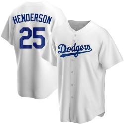 Rickey Henderson Los Angeles Dodgers Men's Replica Home Jersey - White