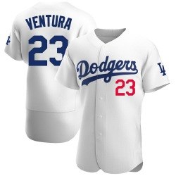 Robin Ventura Los Angeles Dodgers Men's Authentic Home Official Jersey - White