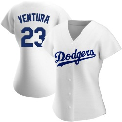 Robin Ventura Los Angeles Dodgers Women's Authentic Home Jersey - White