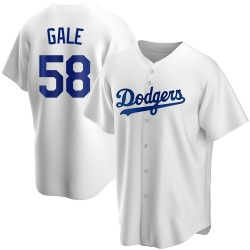 Rocky Gale Los Angeles Dodgers Men's Replica Home Jersey - White