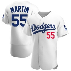 Russell Martin Los Angeles Dodgers Men's Authentic Home Official Jersey - White
