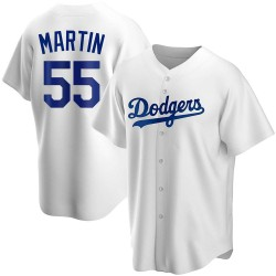Russell Martin Los Angeles Dodgers Men's Replica Home Jersey - White