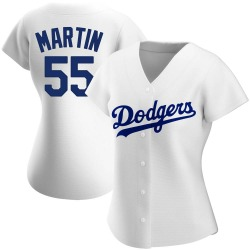 Russell Martin Los Angeles Dodgers Women's Authentic Home Jersey - White