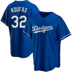 Sandy Koufax Los Angeles Dodgers Men's Replica Alternate Jersey - Royal
