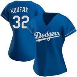 Sandy Koufax Los Angeles Dodgers Women's Authentic Alternate Jersey - Royal