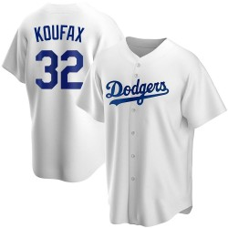 Sandy Koufax Los Angeles Dodgers Youth Replica Home Jersey - White