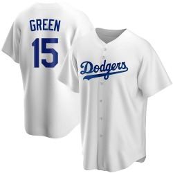 Shawn Green Los Angeles Dodgers Men's Replica Home Jersey - White