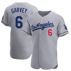 Steve Garvey Los Angeles Dodgers Men's Authentic Away Official Jersey - Gray