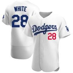 Tyler White Los Angeles Dodgers Men's Authentic Home Official Jersey - White