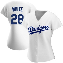 Tyler White Los Angeles Dodgers Women's Authentic Home Jersey - White