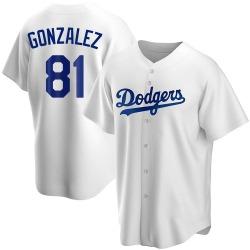 Victor Gonzalez Los Angeles Dodgers Men's Replica Home Jersey - White